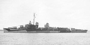 USS Thomas E. Fraser - Image: USS Thomas E. Fraser (DM 24) off Boston in September 1944