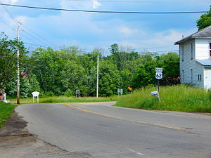 U.S. Route 62 in New York - US 62 north through Conewango Valley after NY 83