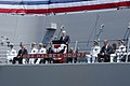 US Navy 050730-N-1356A-037 Arizona Sen. John McCain speaks to the crew and guests attending the commissioning ceremony aboard the Navy's newest Arleigh Burke-class destroyer, USS Halsey (DDG 96).jpg