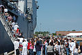 US Navy 070516-N-2456S-151 Families and friends of Whidbey Island-class USS Ashland (LSD 48) Sailors embark the ship after Ashland returned from a six-month deployment.jpg