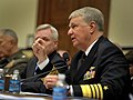 US Navy 100224-N-8273J-048 Chief of Naval Operations (CNO) Adm. Gary Roughead, right, and Secretary of the Navy (SECNAV) the Honorable Ray Mabus testify before the House Armed Service Committee about the 2011National Defense B.jpg