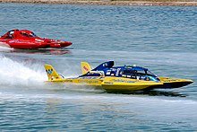 Drag boat racing