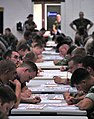 US Navy 100909-N-7367K-001 Service members assigned to various commands along the Gulf Coast take the E-5 advancement exam.jpg