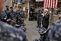 US Navy 110506-N-YR391-005 Secretary of Defense Robert M. Gates delivers remarks during an all-hands call aboard USS Independence (LCS 2).jpg
