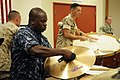 US Navy 110518-N-WP746-217 Musician 2nd Class Ed William, assigned to the U.S. Pacific Fleet Band, plays the cymbals during the joint-service rehea.jpg