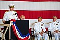 US Navy 111003-N-NW827-250 Vice Adm. Frank C. Pandolfe, commander of U.S. 6th Fleet, speaks to guests during the U.S. 6th Fleet change of command c.jpg