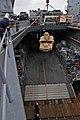 US Navy 111009-N-MW330-009 Sailors aboard the forward-deployed amphibious dock landing ship USS Germantown (LSD 42) raise a vehicle from the well d.jpg