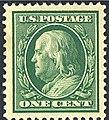 US stamp 1908 1c Franklin.jpg