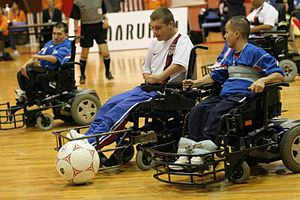 Powerchair Football - USA vs. France, FIPFA World Cup in Tokyo, October 2007.