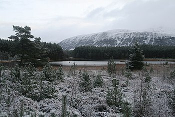 English: Uath Lochan in light snow