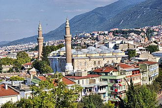 Grand Mosque of Bursa - Image: Ulucami,Bursa panoramio