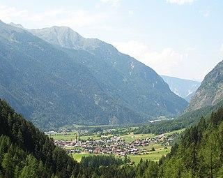 Umhausen Place in Tyrol, Austria