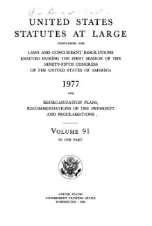 United States Statutes at Large Volume 91.djvu