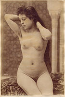 Untitled, Woman with her hair down Albumen print, ca. 1890.jpg