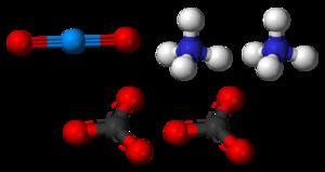 Ammonium uranyl carbonate - Image: Uranyl ammonium carbonate 3D balls