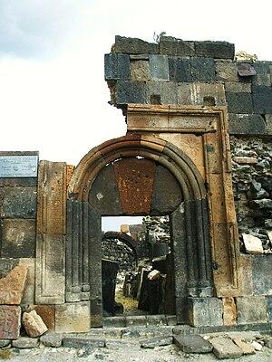 Saint Sarkis Monastery of Ushi - Image: Ushi Monastery Portal