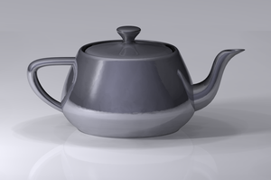 Computer graphics (computer science) - A modern rendering of the Utah teapot, an iconic model in 3D computer graphics created by Martin Newell in 1975.