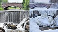 Vanhankaupunginkoski dam in summer and winter - Marit Henriksson.jpg