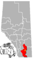 Vauxhall, Alberta Location.png