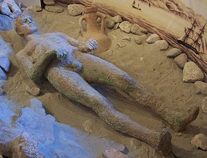 Croatian Apoxyomenos - Replica showing how the statue appeared when it was found