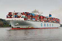 Vessel Cosco Pride IMO9472153 departing Hamburg Germany 02.jpg