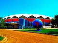 Veterans Memorial Coliseum and World Dairy Globe - panoramio.jpg