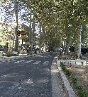 Mercogliano - The central street Via San Modestino
