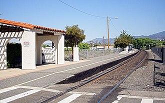 Via Princessa station - Via Princessa station platform