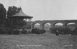 Wharncliffe Viaduct - Wharncliffe Viaduct, Hanwell – c.1900 (looking south)