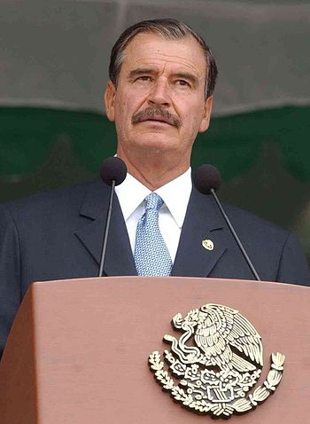 Vicente Fox podium