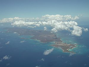 Vieques from the air, looking west