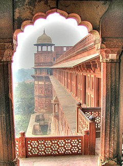 View from a balcony, Agra Fort