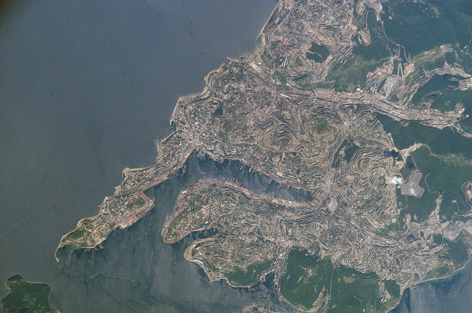 View of Vladivostok from Space