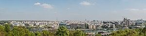 Parc de Saint-Cloud - A panorama taken from the La Lanterne viewpoint, overlooking Paris and its suburbs