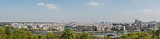 Parc de Saint-Cloud - A panorama taken from the La Lanterne viewpoint, overlooking Paris and its suburbs