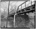 View west, side elevation - Albion Bridge, School Street, Spanning Blackstone River, Cumberland, Providence County, RI HAER RI,4-CUMB,4-7.tif