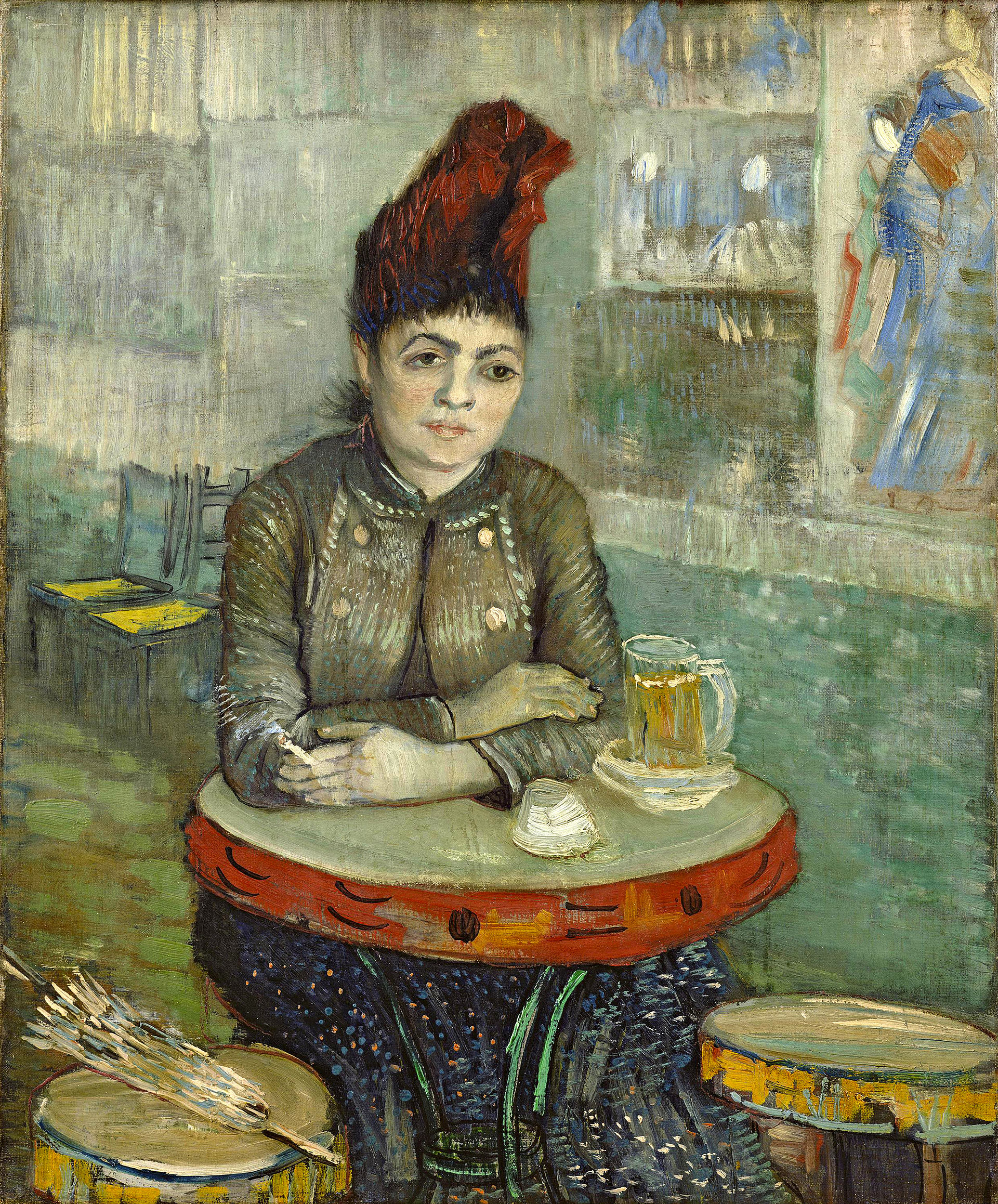 Agostina segatori sitting in the caf du tambourin wikipedia for Van gogh paintings locations