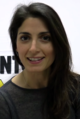 Virginia Raggi with 5SM logo (cropped).png