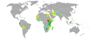 South Sudanese nationality law - Image: Visa requirements for South Sudan citizens