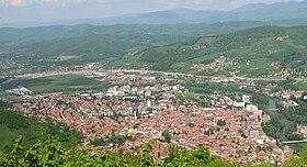 Visoko from Visočica hill