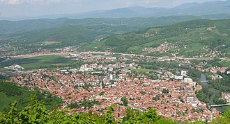 Visoko - Visoko from Visočica hill