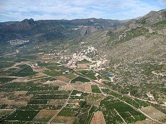 Tormos - Vista área parcial del término municipal de Tormos