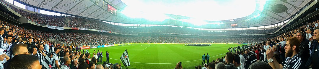 A panorama overview of Vodafone Park during its opening ceremony.