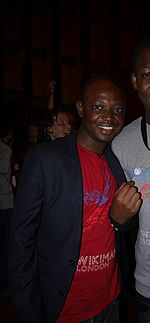 Volunteer at the Wikimania 2014.jpg