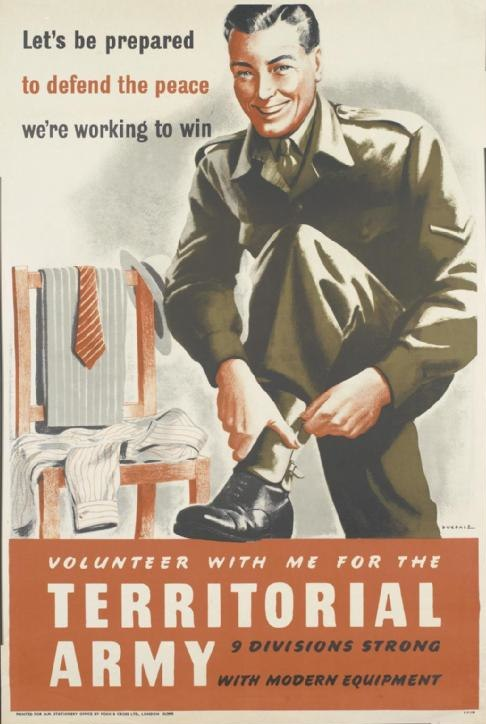 Volunteer with Me for the Territorial Army Art.IWMPST14588