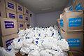 Volunteers receive hygiene kits in Stakhanov 30 (20300178763).jpg