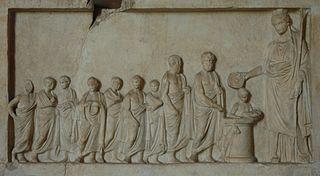 Relief votif : sacrifice à Déméter ou à Aphrodite