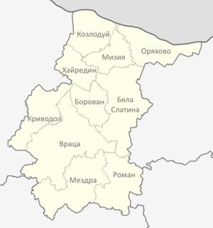 Vratsa Province - Municipalities of Vratsa Province