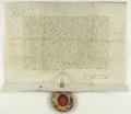 Władysław III Warneńczyk król polski i węgierski, nadaje miastu Poznaniowi przywilej, w którym ustala tryb wybierania rady miejskiej w liczbie ośmiu osób na 6 lat..png