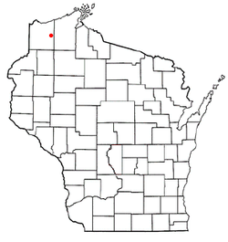 Location of Highland, Wisconsin